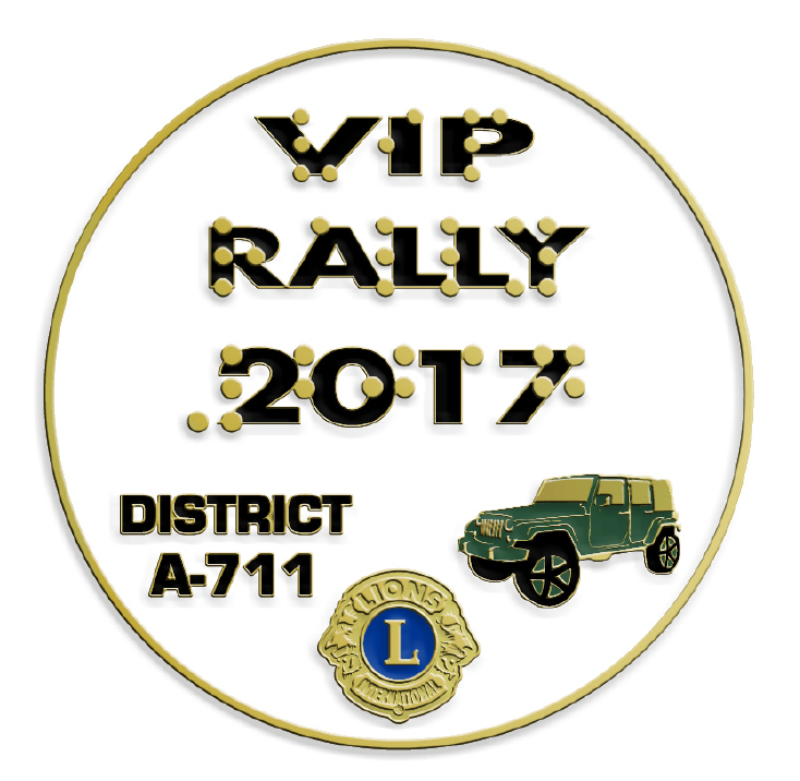 2017 VIP Car Rally pin